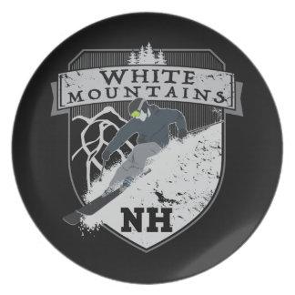 Ski White Mountains, NH Dinner Plates
