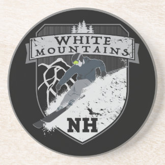 Ski White Mountains, NH Drink Coasters