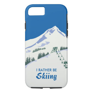 Ski Winter Scene iPhone Case