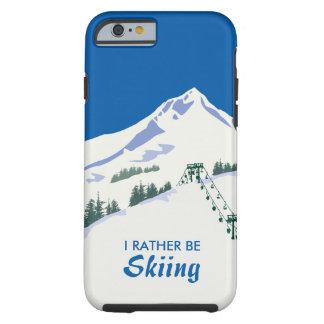 Ski Winter Scene iPhone Case Tough iPhone 6 Case