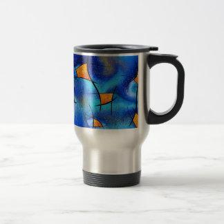 Skianithos V1 - digital abstract Travel Mug