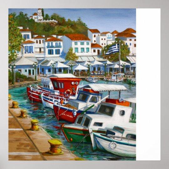 Skiathos Old Port Poster