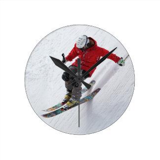 Skier - Acrylic Wall Clock - HAMbWG
