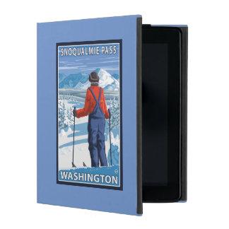 Skier Admiring - Snoqualmie Pass, Washington iPad Folio Cover