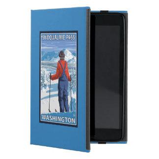 Skier Admiring - Snoqualmie Pass, Washington iPad Mini Case