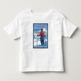 Skier Admiring - Snoqualmie Pass, Washington Toddler T-shirt