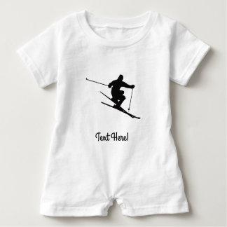 Skier Baby Romper