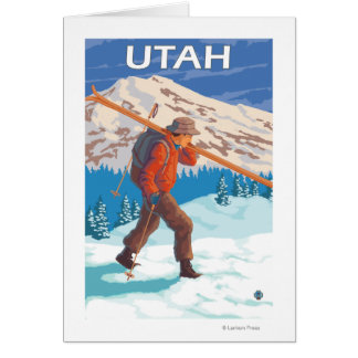 Skier Carrying SkisUtah Card