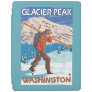 Skier Carrying Snow Skis - Glacier Peak, WA iPad Cover