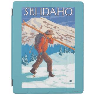 Skier Carrying Snow Skis - Idaho iPad Cover