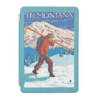 Skier Carrying Snow Skis - Montana iPad Mini Cover