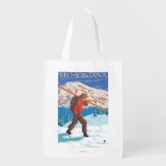Skier Carrying Snow Skis - Montana Market Totes