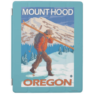 Skier Carrying Snow Skis - Mount Hood, OR iPad Cover
