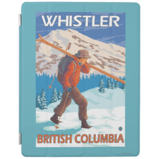 Skier Carrying Snow Skis - Whistler, BC Canada iPad Cover