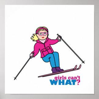 Skier Girl Poster
