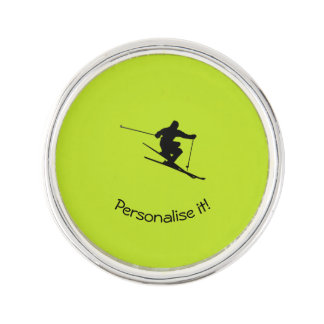 Skier Lapel Pin
