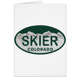 skier license oval card