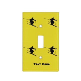 Skier Light Switch Cover