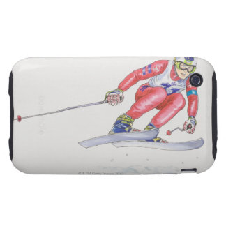 Skier Performing Jump 2 Tough iPhone 3 Cases