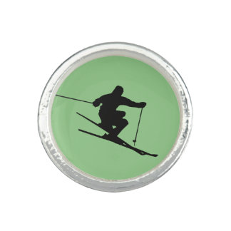 Skier Photo Ring