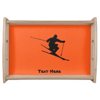 Skier Serving Tray
