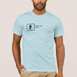 Skier -- Small Logo -- Customizable T-Shirt