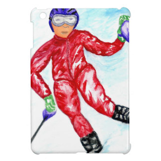 Skier Sport Illustration Case For The iPad Mini