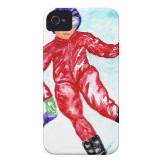 Skier Sport Illustration iPhone 4 Cover