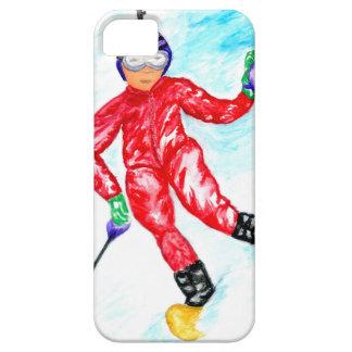 Skier Sport Illustration iPhone 5 Cover
