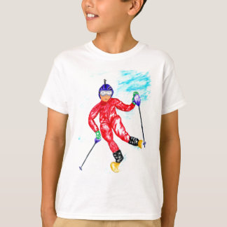 Skier Sport Illustration T-Shirt