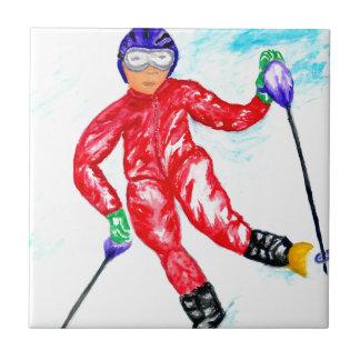 Skier Sport Illustration Tiles