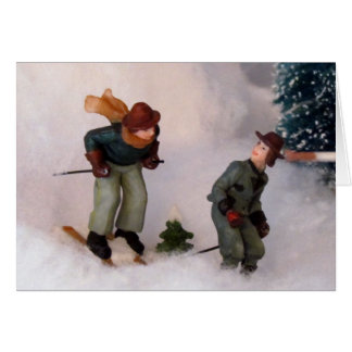 Skier's Village Christmas Card