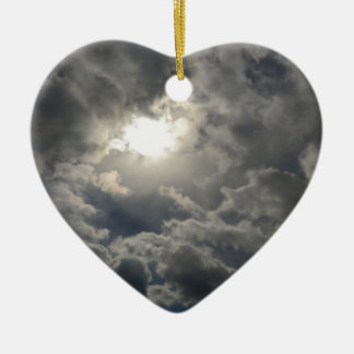 Skies Ceramic Heart Ornament