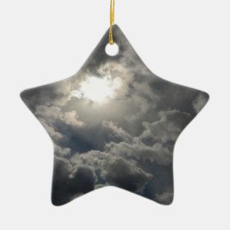 Skies Ceramic Star Ornament