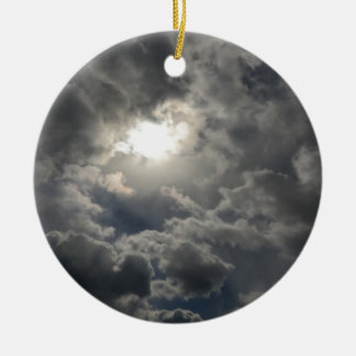 Skies Round Ceramic Ornament