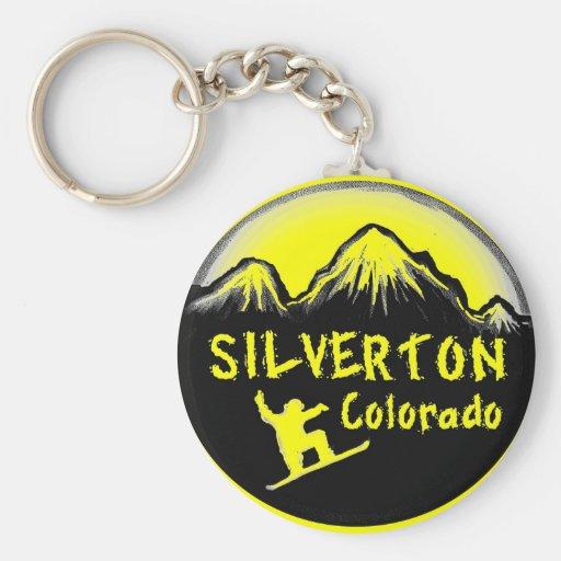 Skieur artistique de Silverton le Colorado Porte-clef