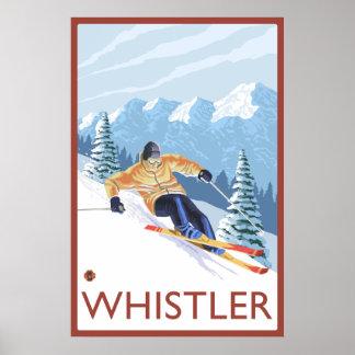 Skieur de neige de Downhhill - Whistler, AVANT JÉS Posters