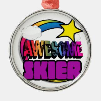 Skieur impressionnant d'arc-en-ciel d'étoile décorations de noël