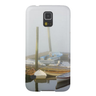 Skiffs and morning fog in Southwest Harbor, Galaxy S5 Cases
