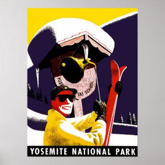 Skiing at Yosemite Posters