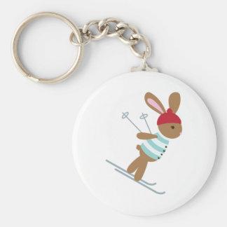 Skiing Bunny Keychain