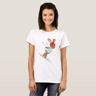 Skiing Bunny T-Shirt