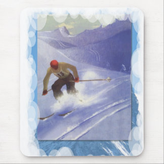 Skiing -Downhill race competition Mouse Pad