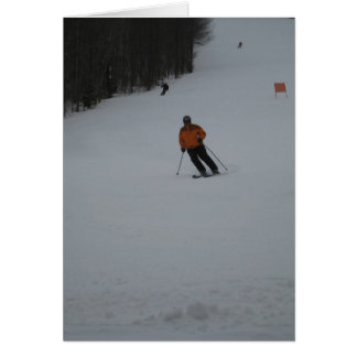 skiing greeting card