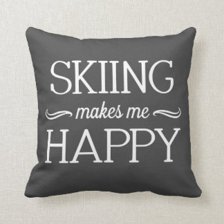 Skiing Happy Pillow - Assorted Styles & Colors