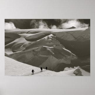 Skiing in the Alaska Range, Denali Poster