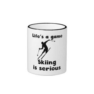 Skiing Is Serious Mug