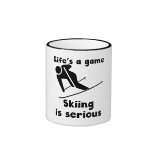 Skiing Is Serious Coffee Mug