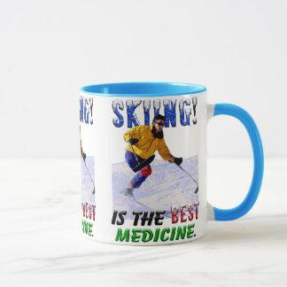 Skiing is the Best Medicine Mug