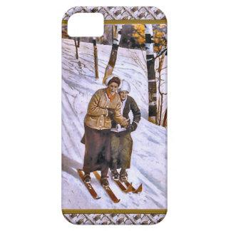 Skiing ladies iPhone 5 covers